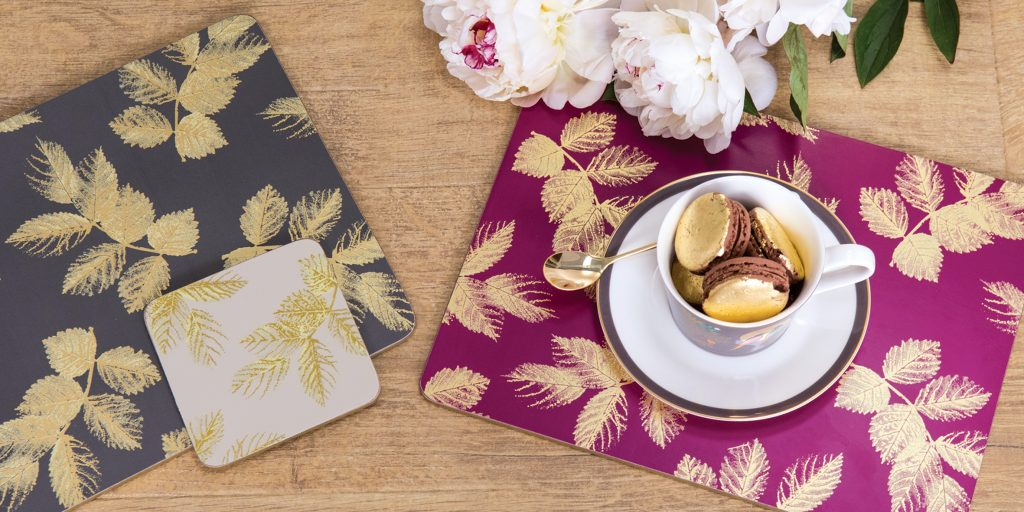Sara Miller London Portmeirion Etched Leaves collection.