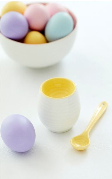 Sophie Conran for Portmeirion Colour Pop - Egg cup & spoon, bowl.