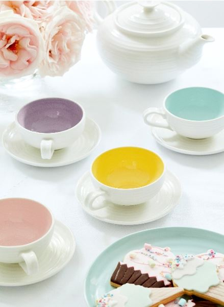 Sophie Conran for Portmeirion Colour Pop - Teacup & saucer, plate, teapot.