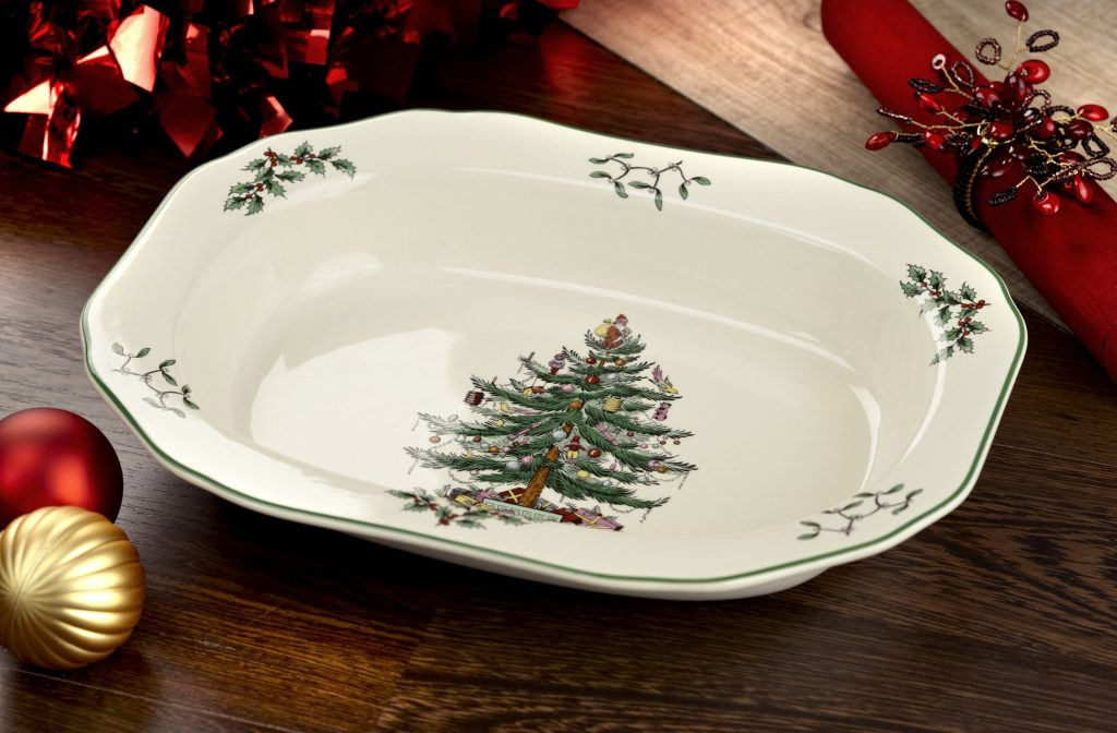 Christmas Tree Serving Pieces - serving bowls, cake stands, gravy boats, platters