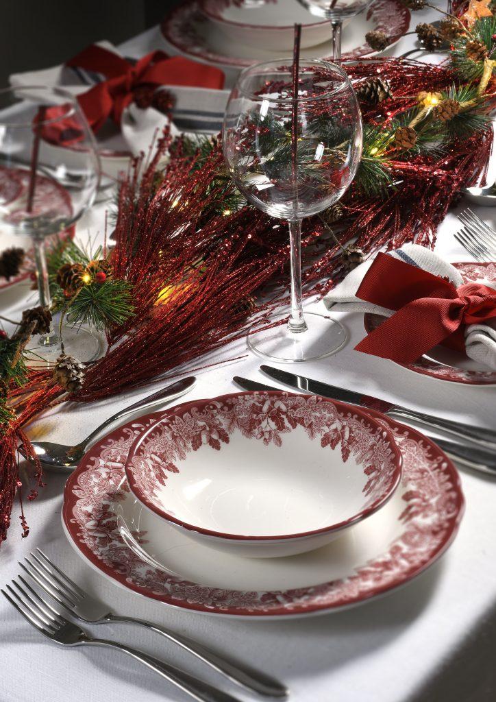 Spode's Winter's Scene Christmas Table Setting - Christmas dinnerware sets, Christmas decorations