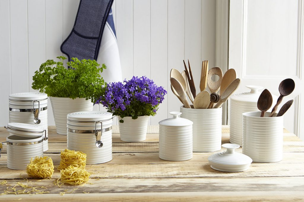 SOPHIE CONRAN WHITE STORAGE JARS